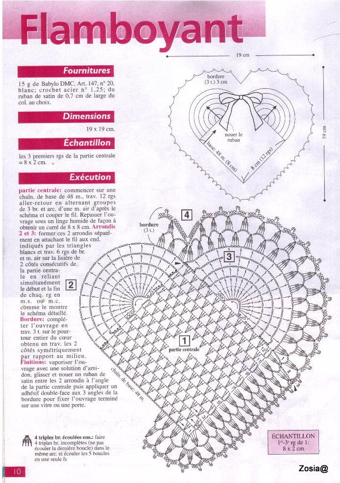 Вязание крючком – сердечки