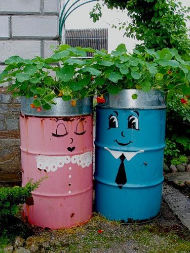 Рукодельки - идеи для сада огорода - расписные бочки5