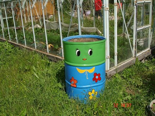 Рукодельки - идеи для сада огорода - расписные бочки2