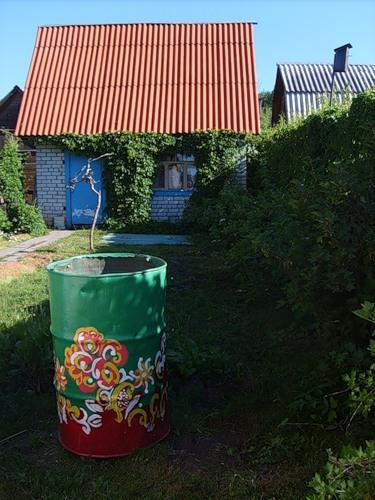Рукодельки - идеи для сада огорода - расписные бочки1