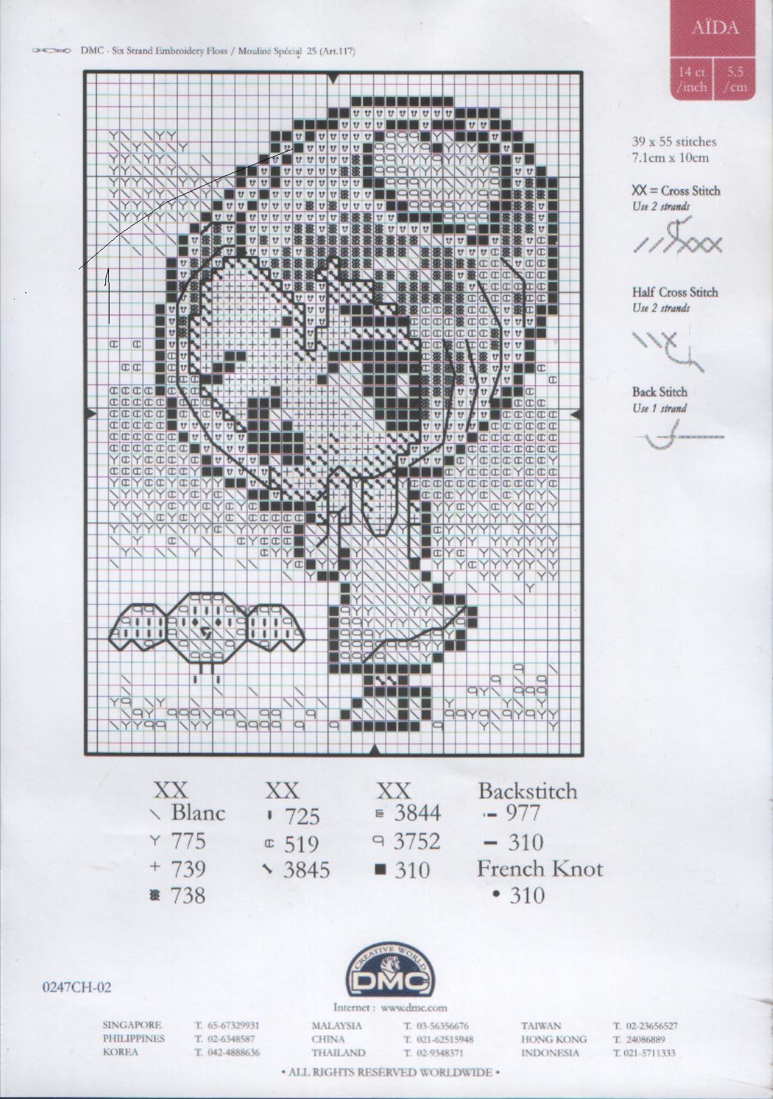 Рукодельки - вишивка крестиком Девочка волшебная - схема