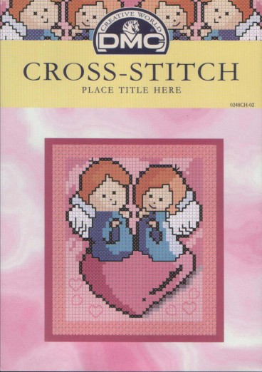 Рукодельки - ангелоски на сердечке - вишивка крестиком