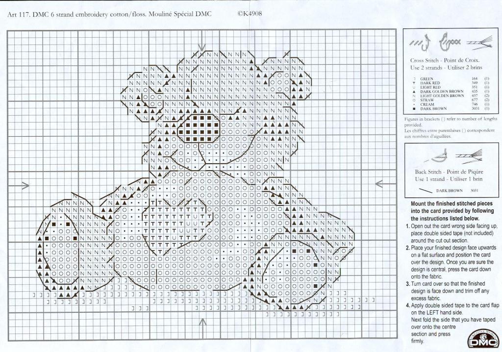Рукодельки - Мишка спит- схема вышивка крестиком
