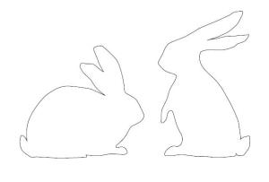 Мои рукодельки. Шаблон. Зайцы кролики.