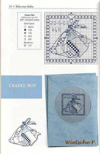 Рукодельки - идеи открытки для новорожденного мальчика- цветные схемы вышивки крестиком