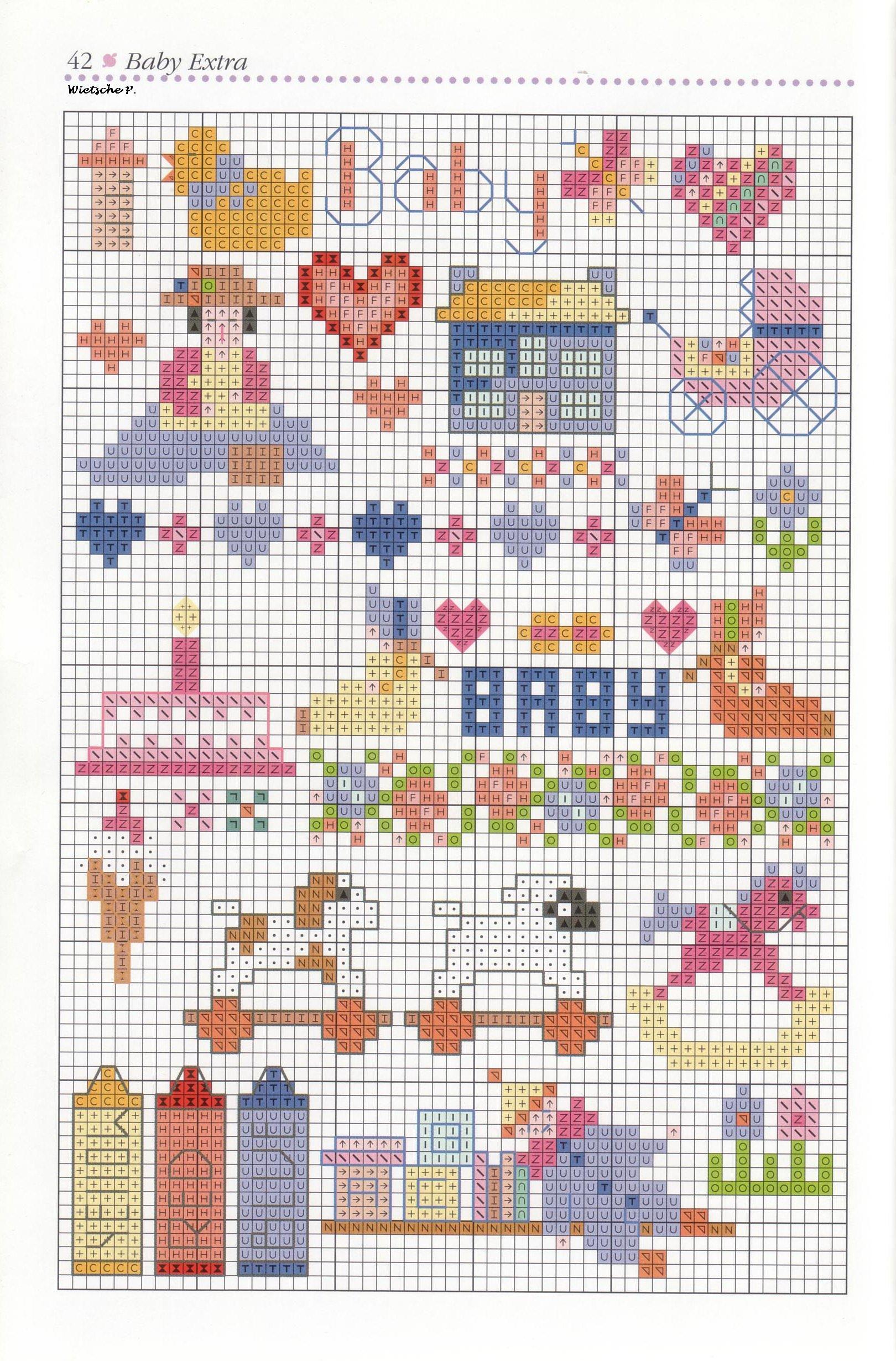 Рукодельки -детские схемы  вышивка крестиком
