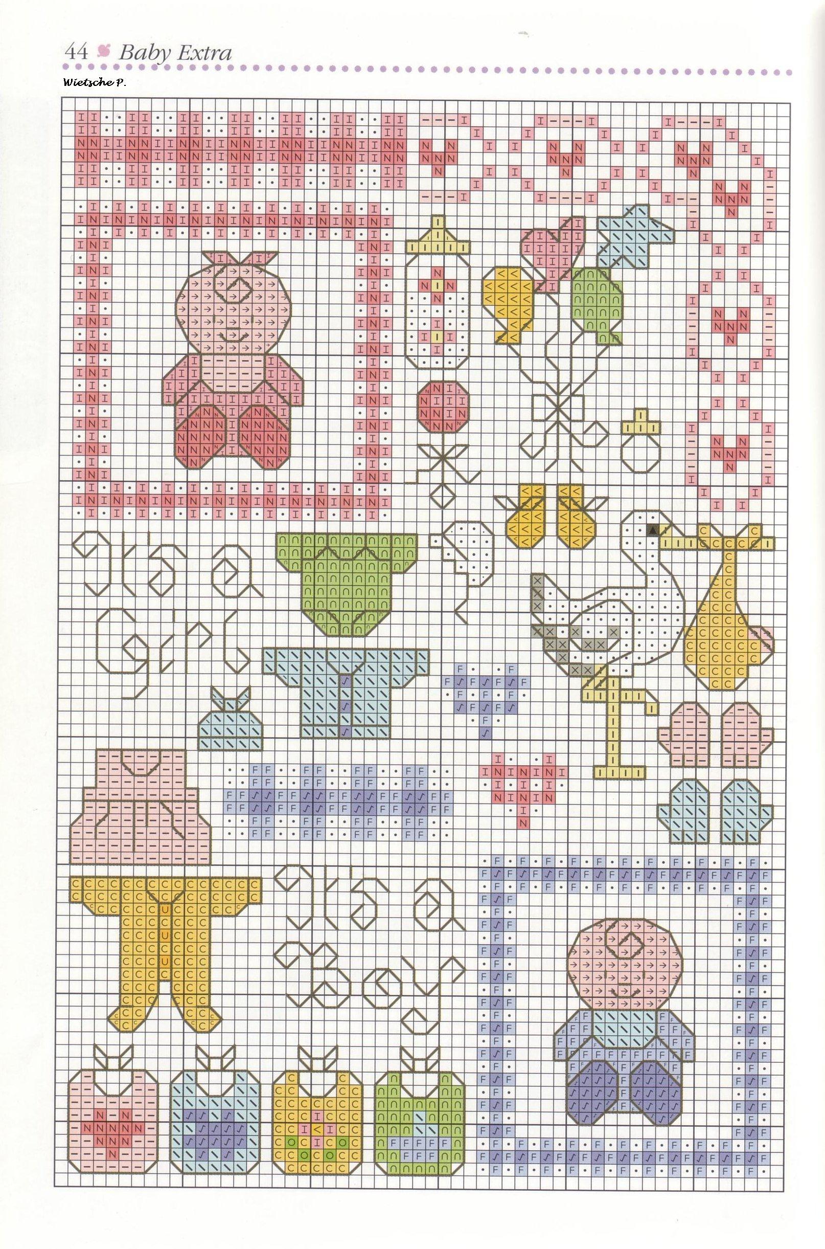 Схема вышивок детских игрушек