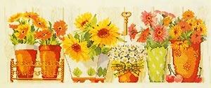 Рукодельки - цветочки в горшочках Fiori