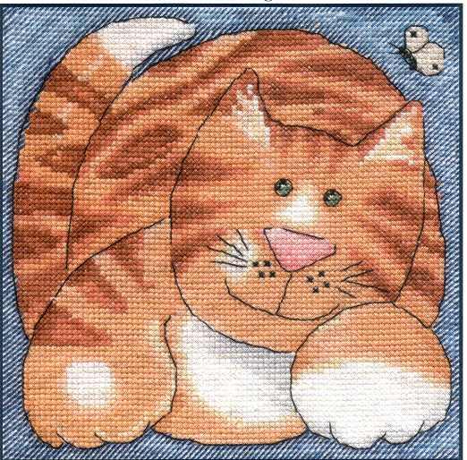 Рукодельки - рыжий кот схема
