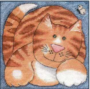 Рукодельки - рыжий кот схема вишики крестиком
