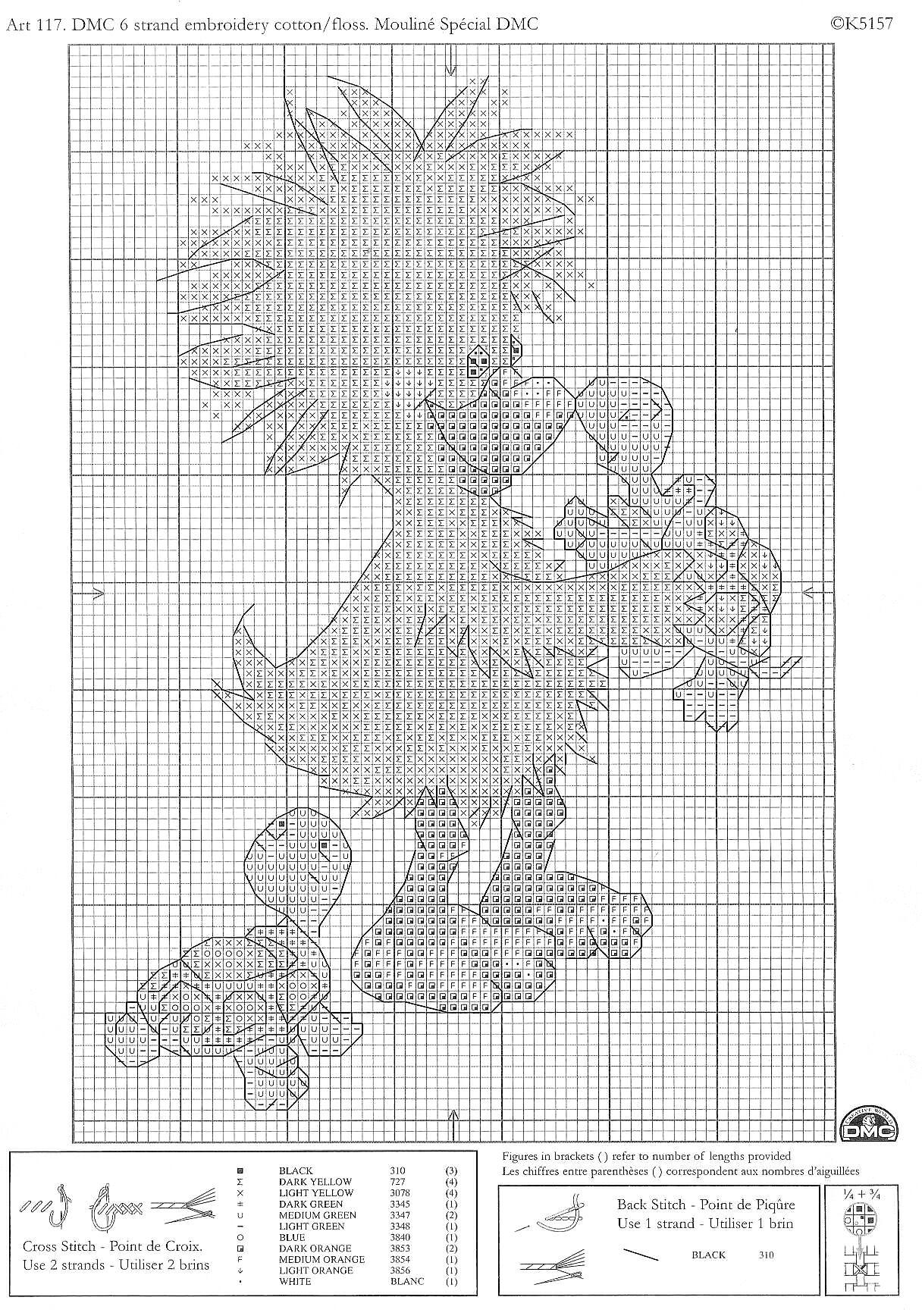 Рукодельки Утёнок - схема вышивки крестиком