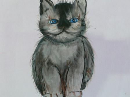 Рукодельки Мои рисунки Кошки Наивное ИЗО