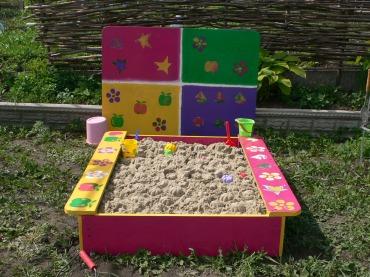 Рукодельки - Идея! песочница детская с крышкой