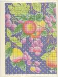 Рукоделие Рукодельки Подушки2 Фрукты на подушке -цветная схема крестиком