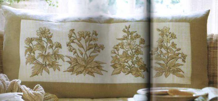 Идея оформления подушки