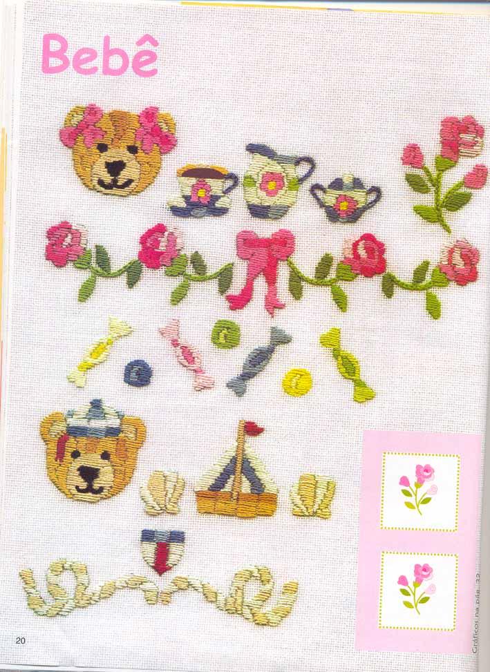 Узор для вышивки ребенку 26