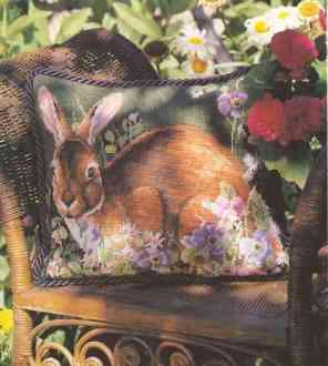 Кролик на подушке Рукодельки4
