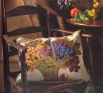 Подушка с корзиной фруктов Рукодельки