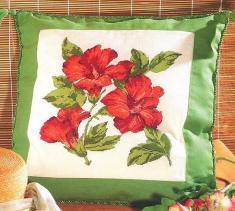 Рукодельки Подушка Китайская роза