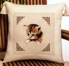 Рукодельки Подушка котенок