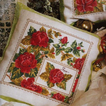 Рукодельки Подушка с розами