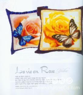 Рукодельки Подушки бабочки на розах