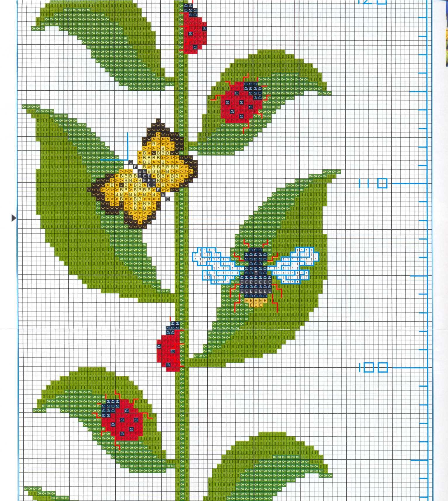 Вышивка крестом ростомеров схемы вышивок 684