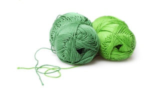 Мои рукодельки Зеленые клубки