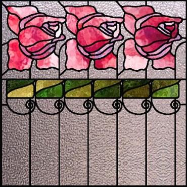 Розы витраж