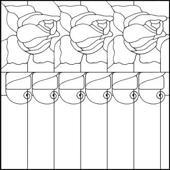 Розы витраж схема