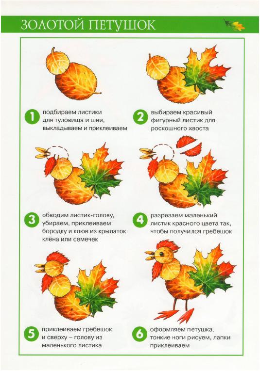 Аппликации из листьев- осенние картины Лыкова - книга -фото.