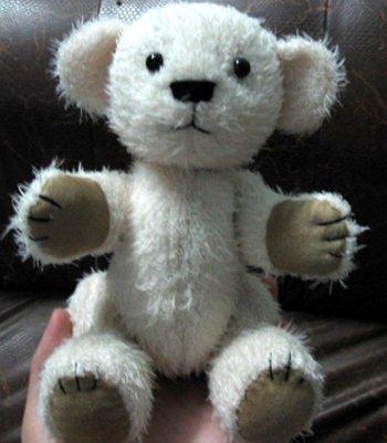 Мои рукодельки мишка белый1