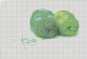 Мои рукодельки Зеленые клубки Схема