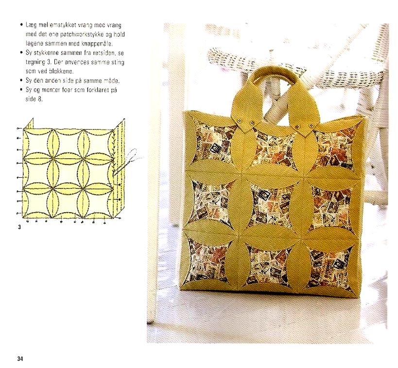 Лоскутное шитье сумки своими руками схемы 63