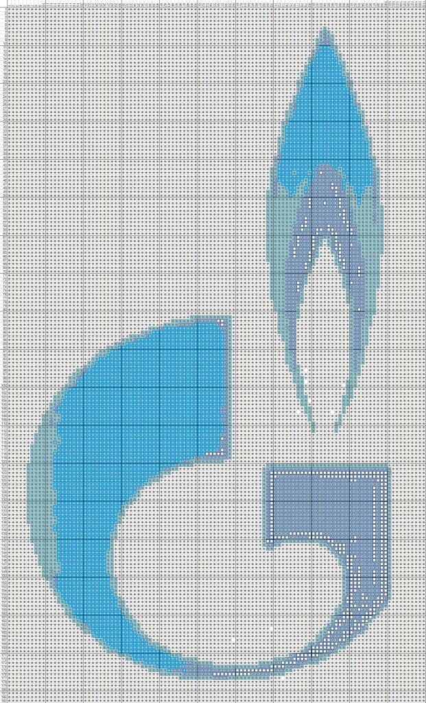 логотип газпром Мои рукодельки цветная схема вышивки крестиком