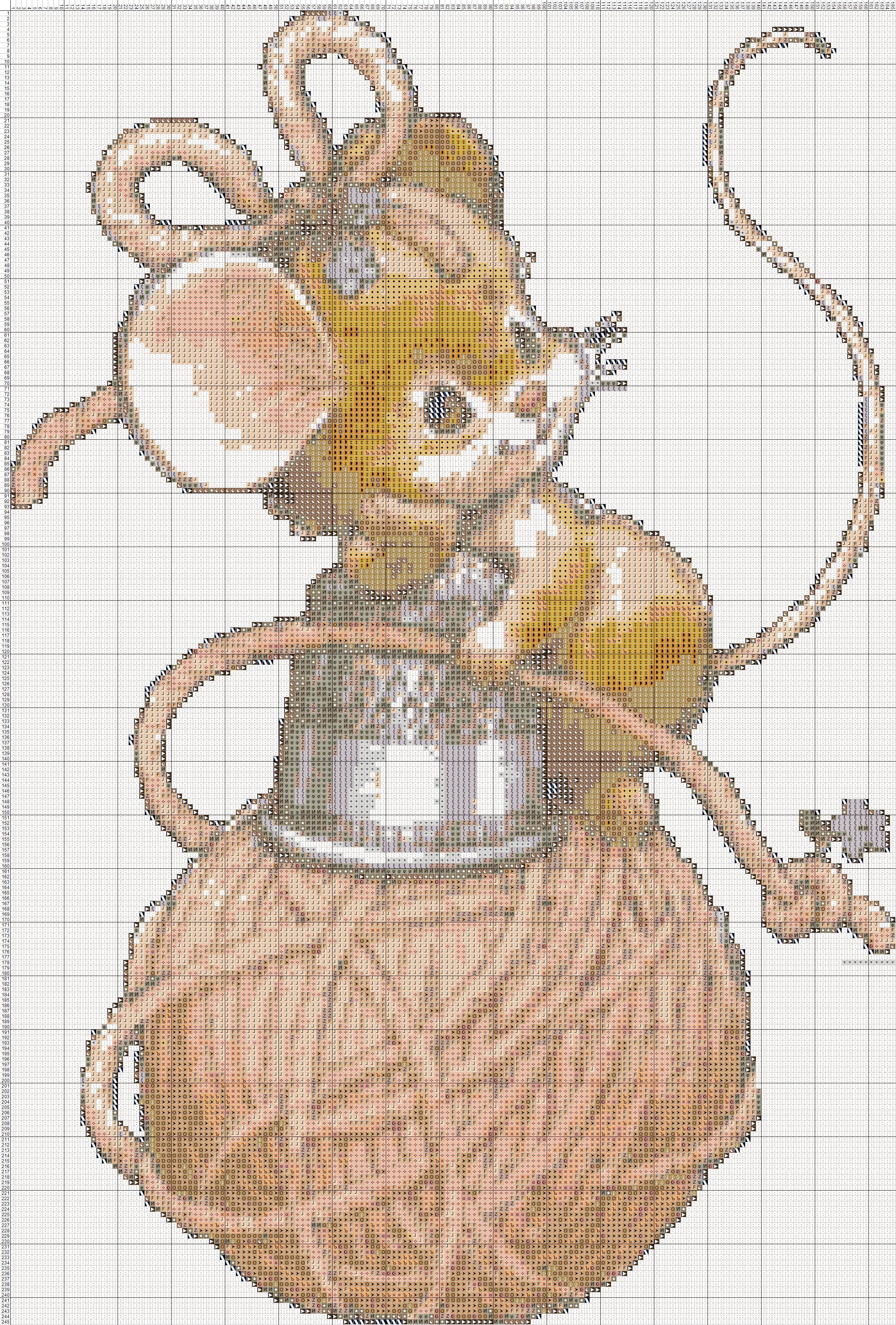 Мышка вышивка крестиком