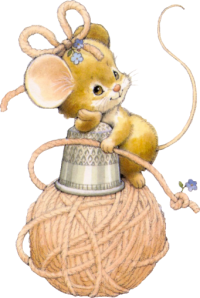 Мои рукодельки. Мышка на нитках.