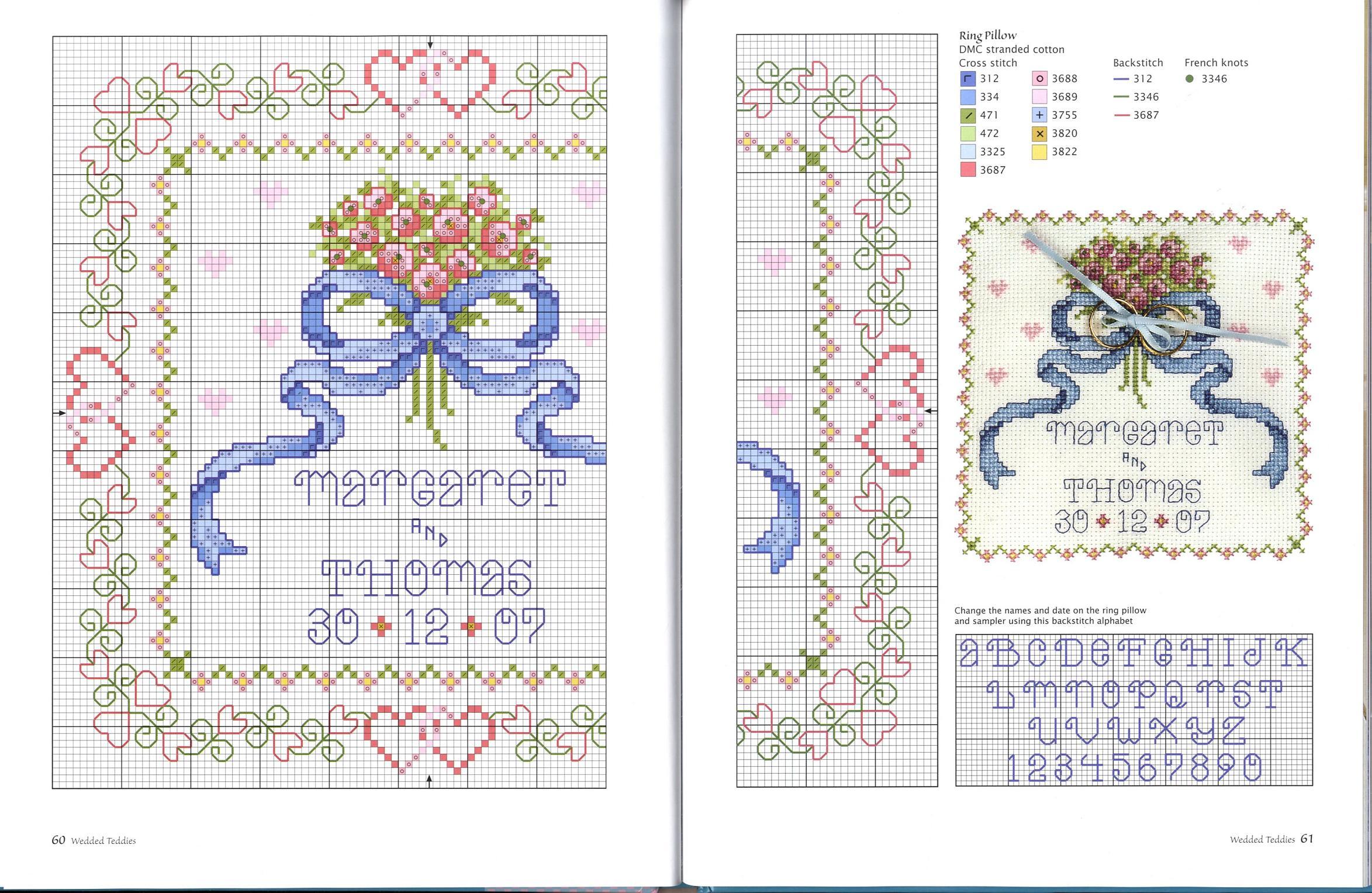 схемы вышивок для открыток к свадьбе многих них