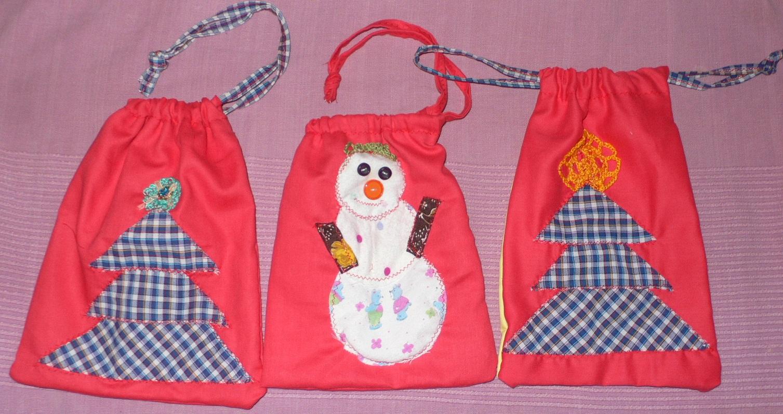 Новогодние мешочки своими руками фото