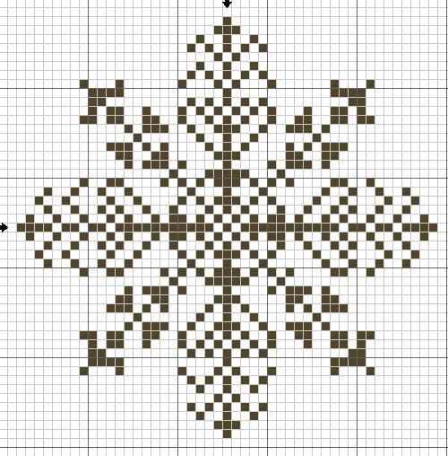 Снежинки – схемы для вышивки