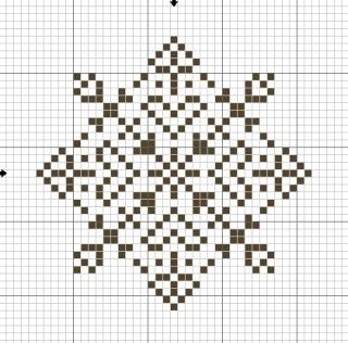 Снежинки - схемы для вышивки крестиком.