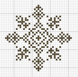 Снежинки, схемы вышивки крестом.